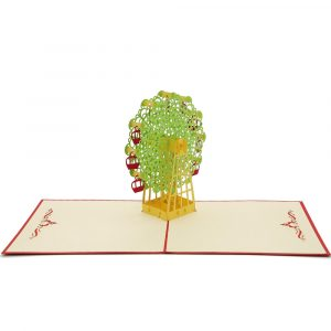 BD007-Ferris Wheel 3D Card-vietnam custom pop up card manufacturer (3)