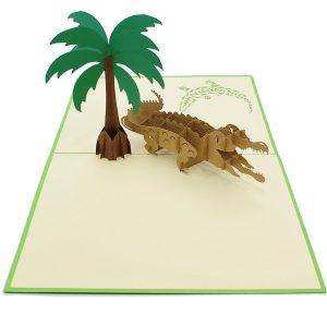 BF059-crocodile 3D card-pop up card manufacturer-charmpop (2)