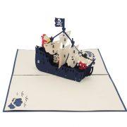 BG066-Birthday Pirate Dog 3D Card-Birthday Cards-custom cards manufacturer-CharmPop (1)