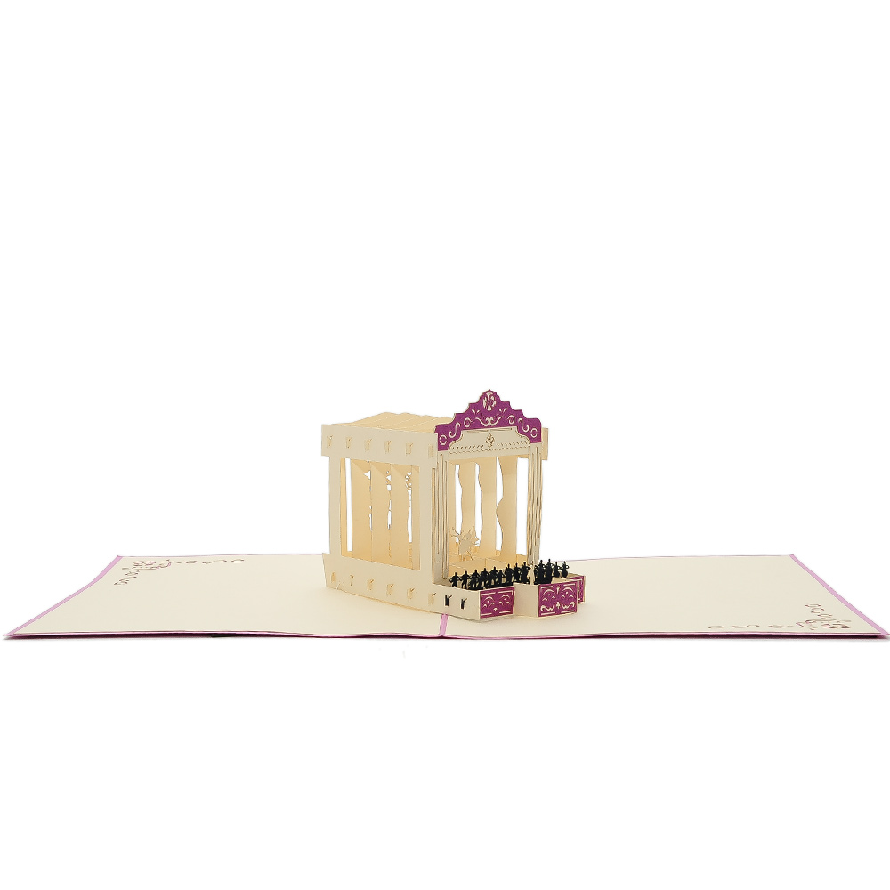 Quinceaera pop up card pop up greeting cards kirigami 3d card charmpop ballet pop up card 3d card supplier 1 m4hsunfo Image collections