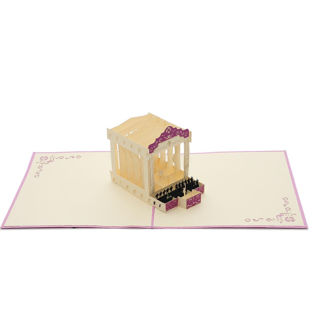 Ballet Pop Up Card Custom New Design Origami Cards Wholesale Pop