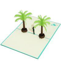 Coastal wedding pop up card-3d greeting card supplier-origami card manufacturer-lpop up card wholesale (2)