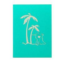 Coastal wedding pop up card-3d greeting card supplier-origami card manufacturer-lpop up card wholesale (3)