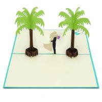 Coastal wedding pop up card-3d greeting card supplier-origami card manufacturer-lpop up card wholesale (4)