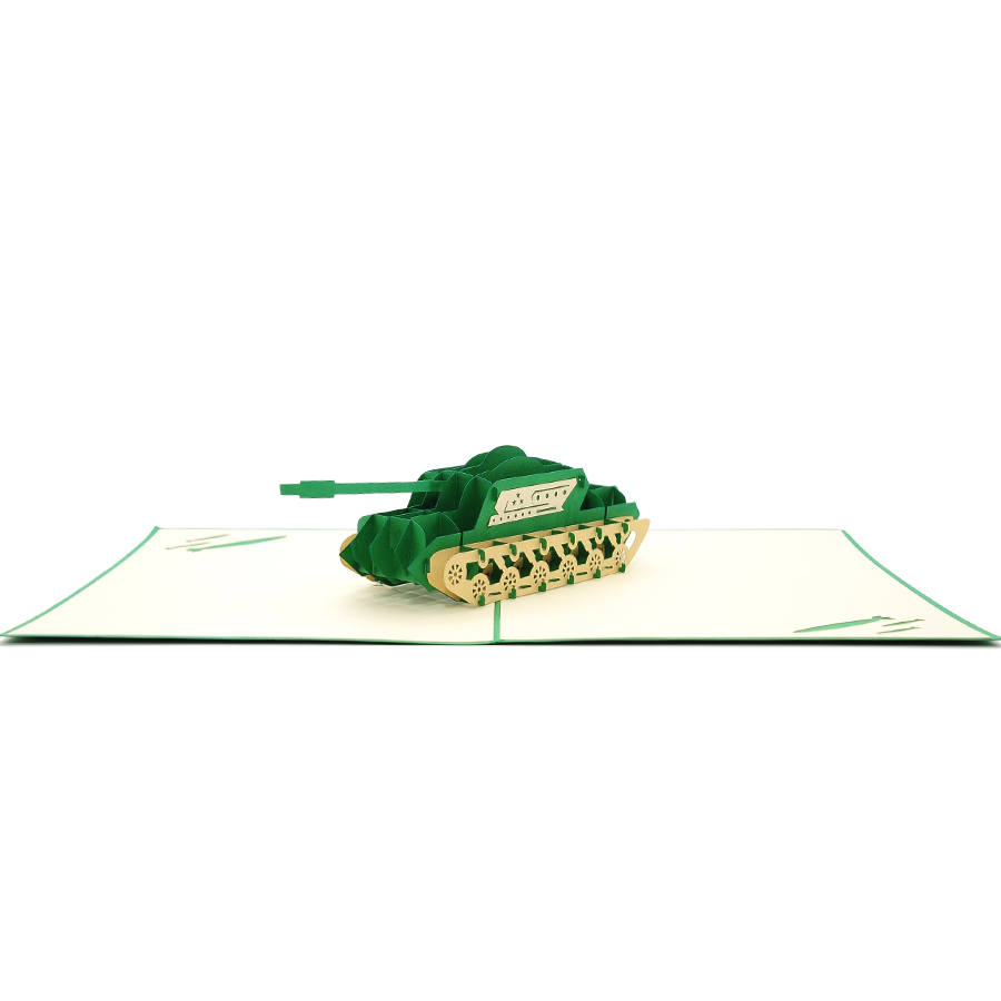 Combat tank 3D cards-pop up cards- military greeting cards-transport 3d cards-charmpop 3d cards wholesale (3)