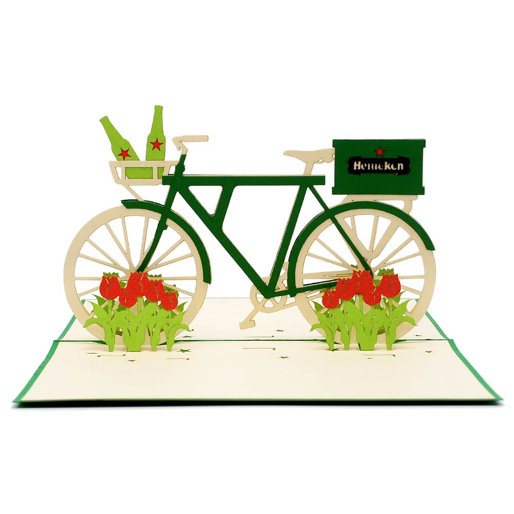 Custom Heineken Bike-custom pop up cards manufacturer-CharmPop (2)