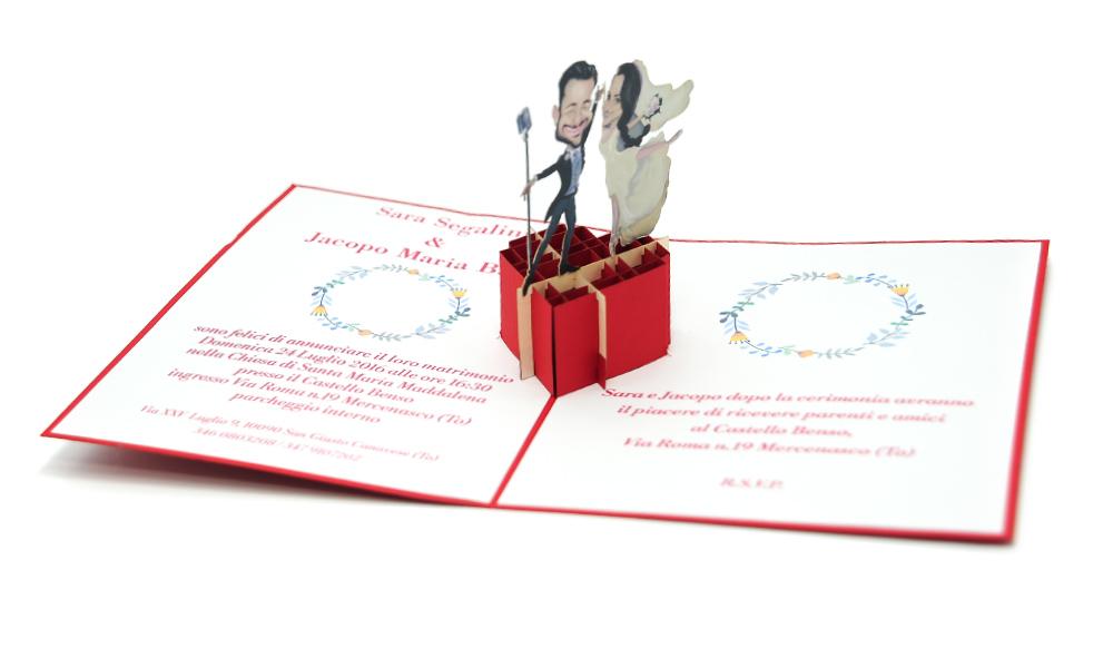 custom wedding pop up cards, high quality wedding invitations