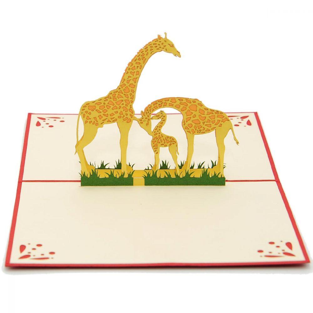 giraffe-mother-3d-card-pop-up-card-new-baby-3d-card-custom-3d-manufacturer-nb012-1
