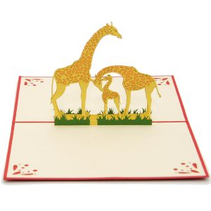 giraffe-mother-3d-card-pop-up-card-new-baby-3d-card-custom-3d-manufacturer-nb012-1