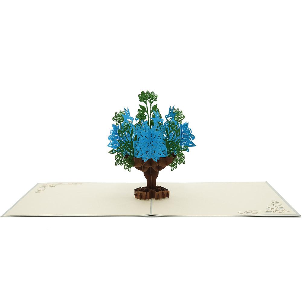 Flower Vase Pop Up Card Mothers Day Origami Cards Supplier Pop Up