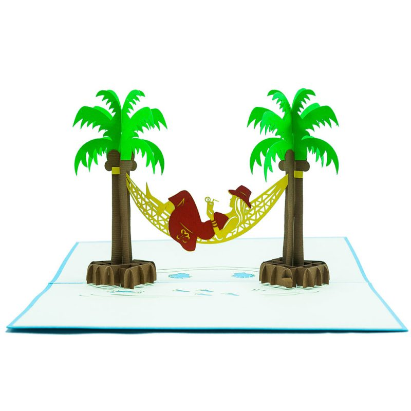 FS018- Summer Girl- 3D greeting card-pop up card wholesale-CharmPop (2)