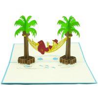 FS018- Summer Girl- 3D greeting card-pop up card wholesale-CharmPop (3)