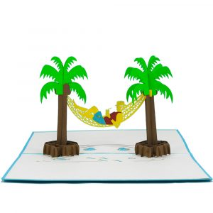 FS019 Hammock Boy- 3D greeting card-charmpop (2)