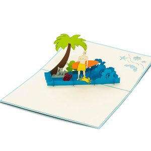 FS034-Birthday-Surfing-Boy-holyday-pop-up-card-friendship-pop-up-card-1