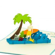 FS034-Birthday-Surfing-Boy-holyday-pop-up-card-friendship-pop-up-card-2