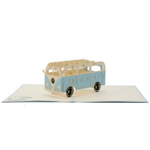FS077-Campervan 3D Cards- CharmPop-Birthday Cards -transporttation Card (1)