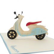 FS078-New Vespa-Charm Pop custom cards-pop up cards supplier (3)