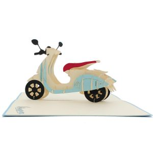 FS078-New Vespa-Charm Pop custom cards-pop up cards supplier (4)