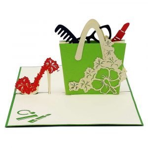 FS079-Shoes and Bag 3D Cards- custom pop up cards supplier-CharmPop (2)