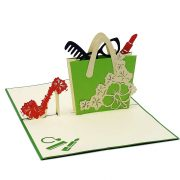 FS079-Shoes and Bag 3D Cards- custom pop up cards supplier-CharmPop (3)