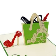 FS079-Shoes and Bag 3D Cards- custom pop up cards supplier-CharmPop (4)
