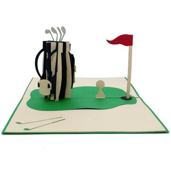 FS080-Golf Set 3D cards-custom pop up card manufacturer-CharmPop (3)