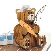 Fishing Teddy Bear- birthday cards wholesale-CharmPop (2)