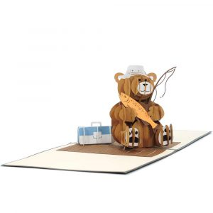Fishing Teddy Bear- birthday cards wholesale-CharmPop (4)