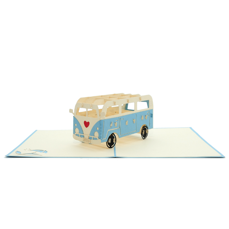 campervan love pop up card- 3d greeting card wholesale- pop up card valentines- love pop up cars- campervan pop up card (2)