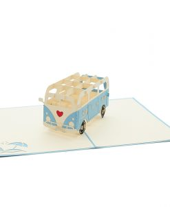 LV046- campervan love pop up card- 3d greeting card wholesale- pop up card valentines- love pop up cars- campervan pop up card (3)