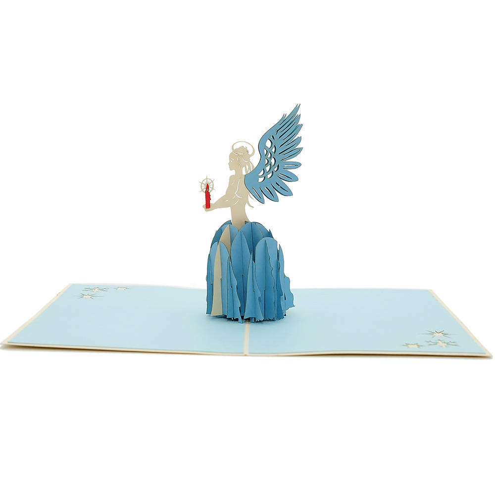 Angel Christmas pop up card- Christmas pop up card manufacturer