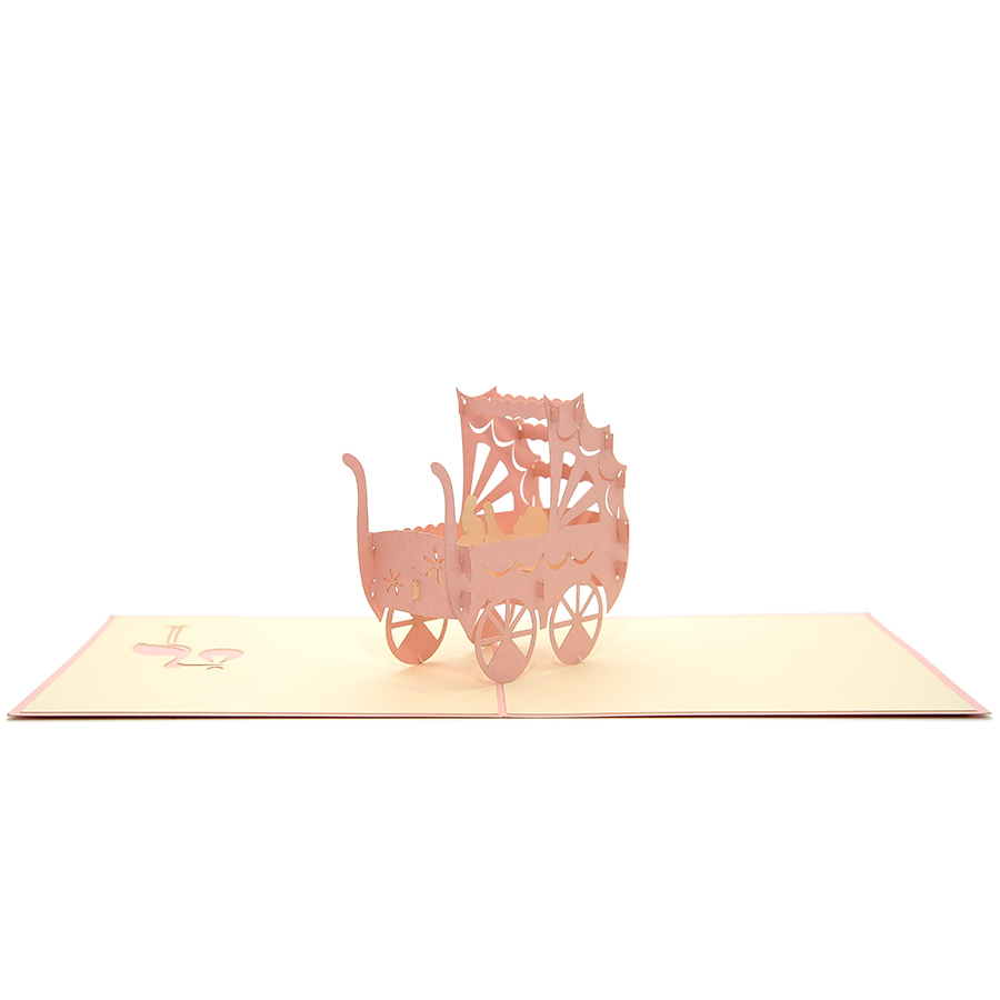 NB023-Baby-in-carriage-congratulation-pop-up-card-newbaby cards-3d cards manufacturer-charmpop (3)