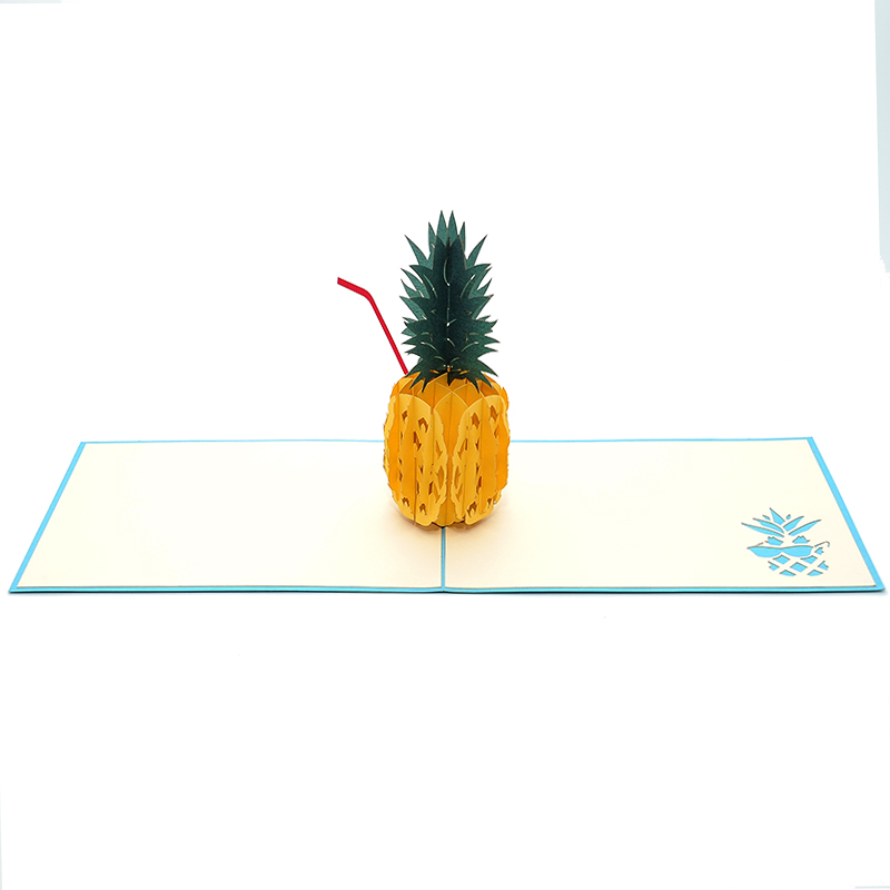 Pineapple drink pop up card 3d greeting card supplier origami card pineapple drink pop up card 3d greeting card supplier origami card manufacturer lpop up card wholesale 2 m4hsunfo