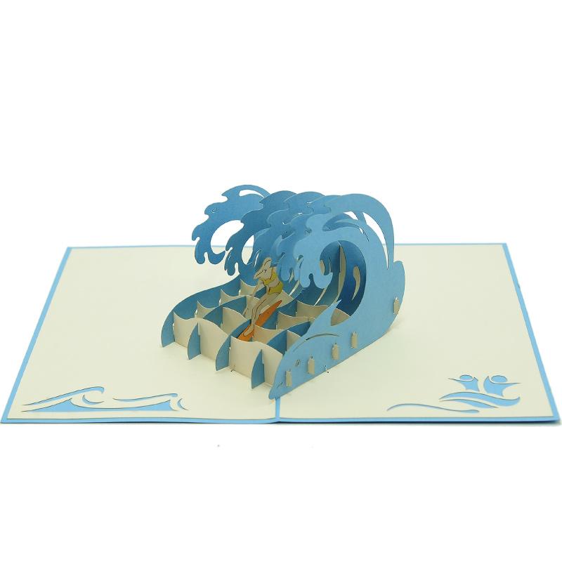 Surf extreem girl pop up card 3d greeting card supplier origami card surf extreem girl pop up card 3d greeting card supplier origami card manufacturer lpop up card wholesale 3 m4hsunfo