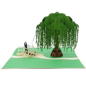 WD020 Willow Love 3D Cards-pop up greeting cards wholesale-custom 3D cards manufacturer-CharmPop (3)