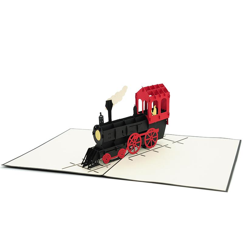 bg062|classic train pop up card| high quality 3d greeting cards|transport popup cards wholesaler-charmpop2