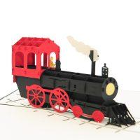 bg062|classic train pop up card| high quality 3d greeting cards|transport popup cards wholesaler-charmpop4
