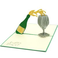 CG005-Champagnes pop up card – pop up card manufacturer-wholesale (2)