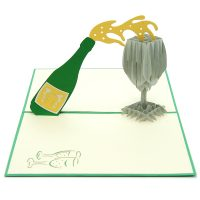 CG005-Champagnes pop up card – pop up card manufacturer-wholesale (4)