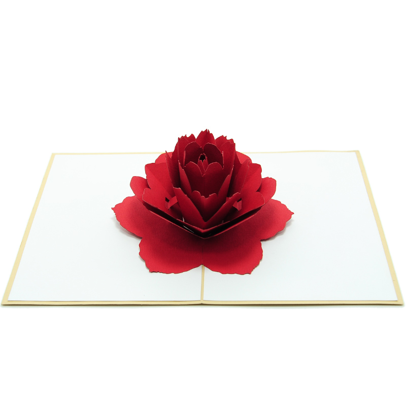 FL028-Rose-flower-pop-up-greeting-card-love-card-kirigami2