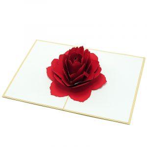 Rose-flower-pop-up-greeting-card-love-card-kirigami