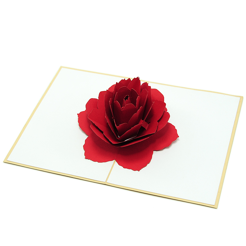 Rose-flower-pop-up-greeting-card-love-card-kirigami
