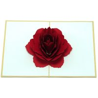 FL028-Rose-flower-pop-up-greeting-card-love-card-kirigami4