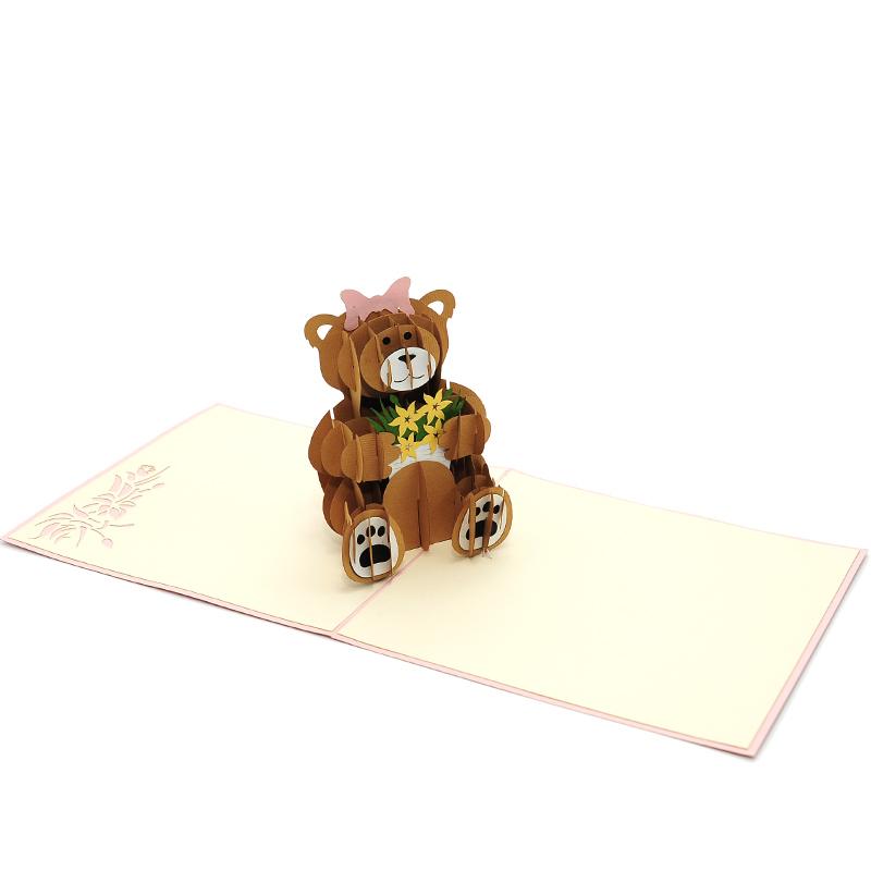teddy bear pop up card template free - teddy bear pop up card pop up birthday card 3d card high
