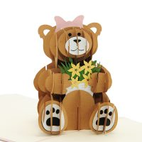 BG064-princess teddy bear pop up card- pop up card wholesale- birthday 3d cards (4)