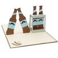 BG070- Beer pop up card- men gift idea- 3d gift card for men- pop up card manufacturer-popup card supplier (1)
