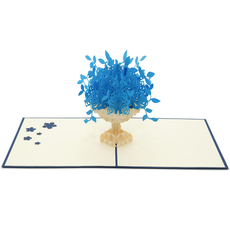 FL017B-flower pop up cards- aniversary pop up cards 3D- pop up cards wholesale manufacturer (3)