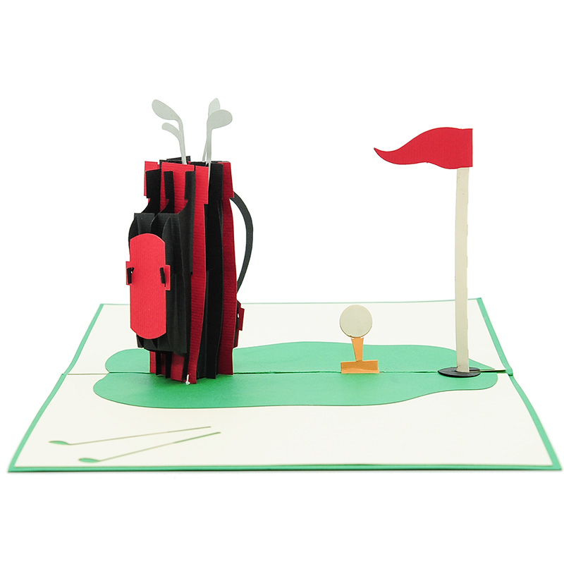 FS080-Golf-Set-3D-cards-custom-pop-up-card-manufacturer-CharmPop (4)