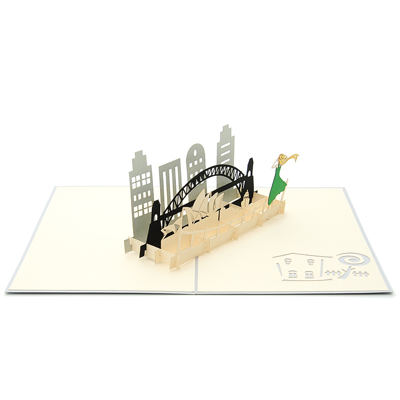 how to make sydney opera house pop up card