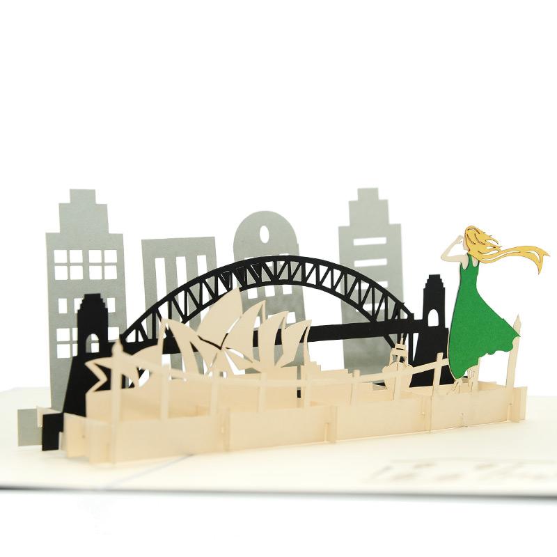 Sydney trip pop up card birthday d
